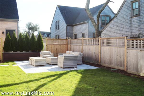 Private yard for main house