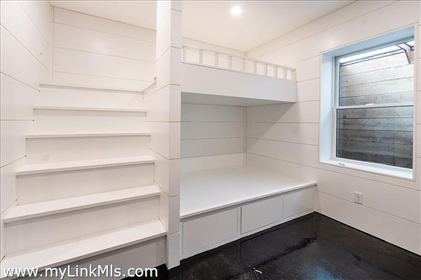 Lower level Bunk Room with egress window