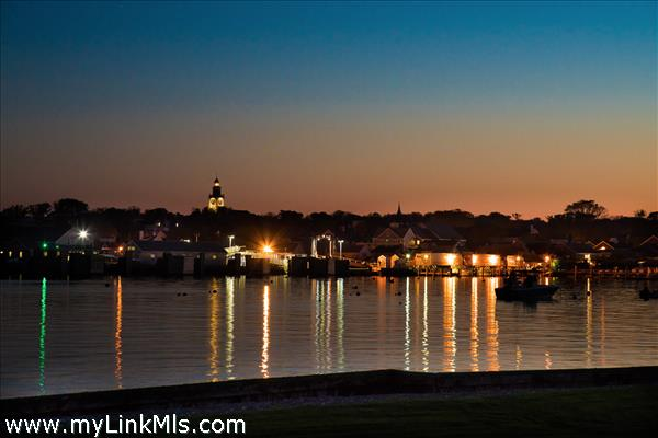Evening views of town and Nantucket Harbor