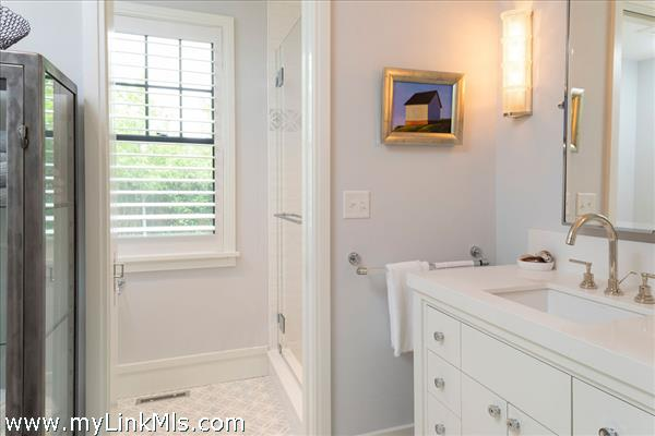 First-floor guest bath