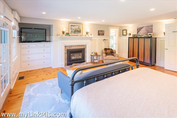 Master suite with gas fireplace