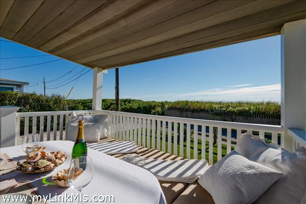 Front house - covered porch to sea
