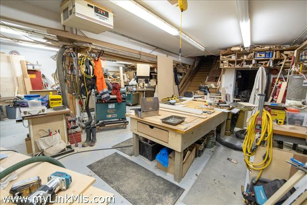 Lower Level shop space