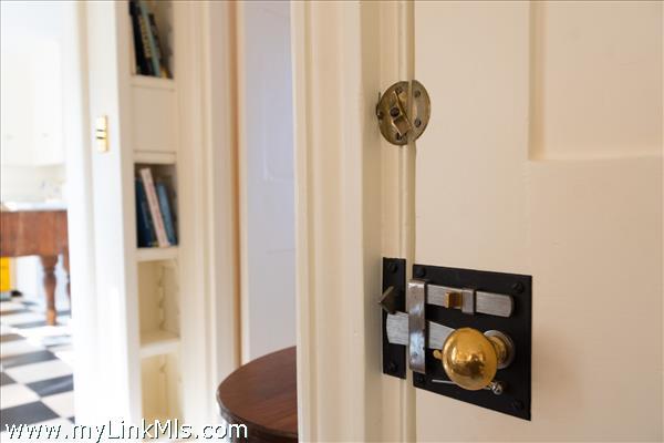 Interior door hardware detail
