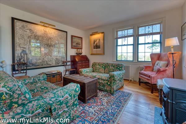 Living room with western facing windows