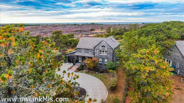 Breathtakingly beautiful views of conservation and the distant Nantucket Sound.