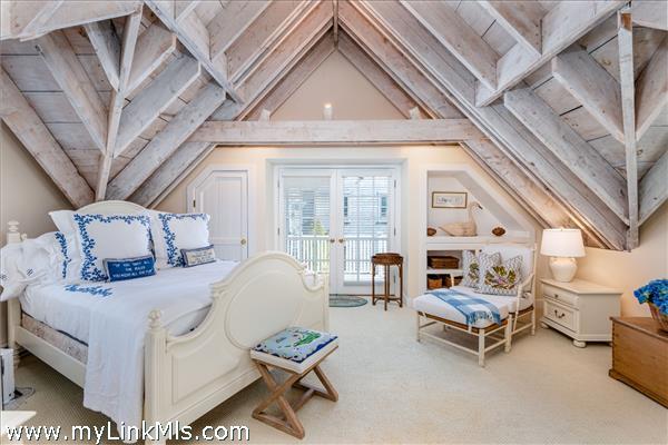 2nd Floor Bedroom with French Doors to Deck