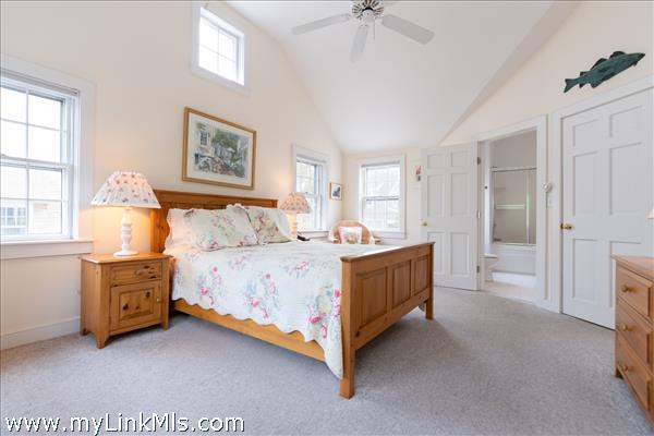 Second floor guest suite, Room 3, with a queen bed