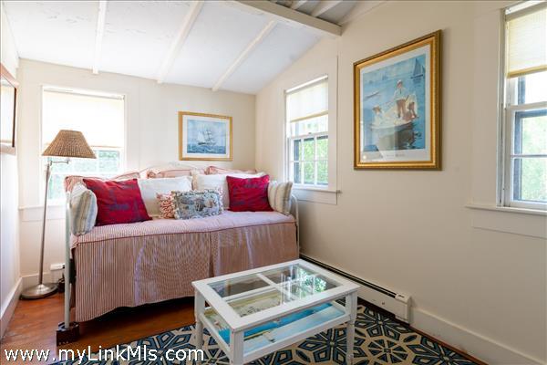 First floor guest bedroom with half bath