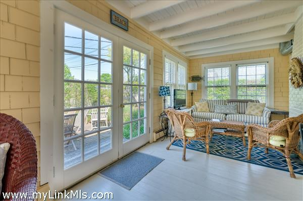 Sunroom with French Doors to Patio