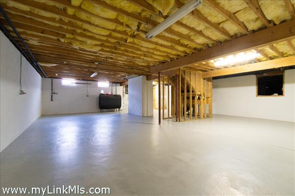 Basement with interior and exterior bulkhead access