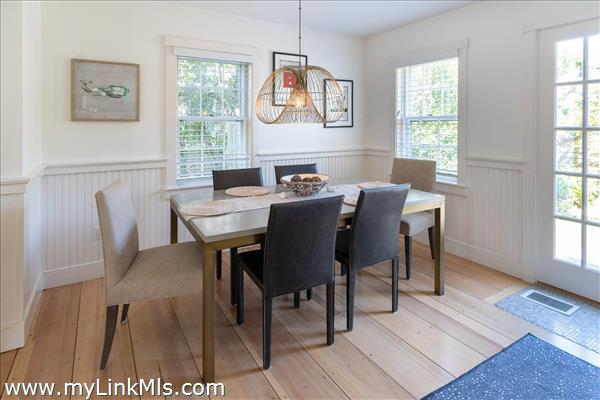 Dining room with French door to patio