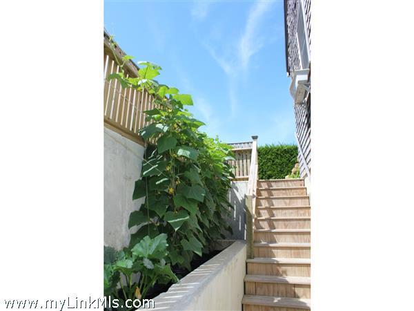 Exterior staircase with nice area for fresh garden